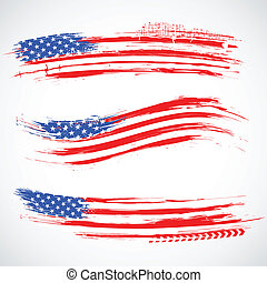 grungy, américain, bannière, drapeau