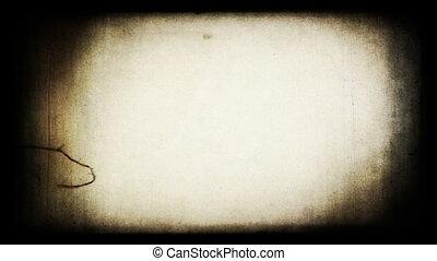 grungy, projecteur, screen., pellicule, retro
