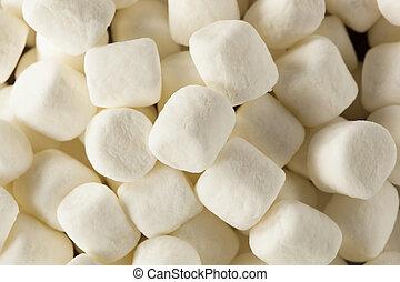 guimauves, mini, blanc, bol