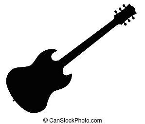 guitare, électrique, norme