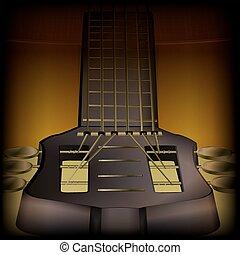 guitare, acoustique, gros plan