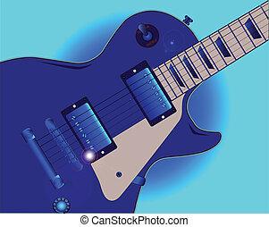 guitare, bleus