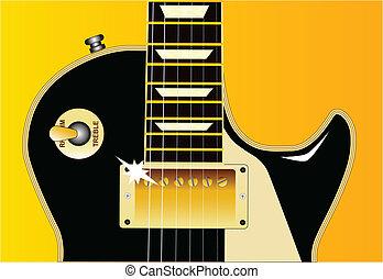 guitare, détail