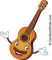 guitare, dessin animé