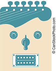 guitare, froussard, figure