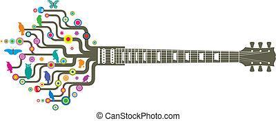 guitare, froussard