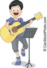 guitare, gosse