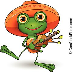 guitare, grenouille
