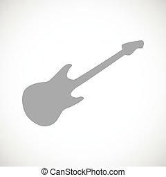 guitare, icône