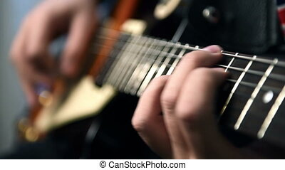 guitare jouer, guitaristes