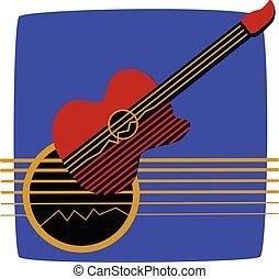 guitare, montage, classique