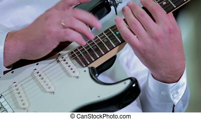 guitare, musicien, jouer, professionnel