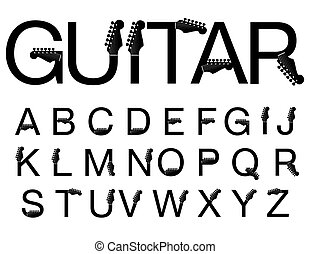 guitare, oeil caractère