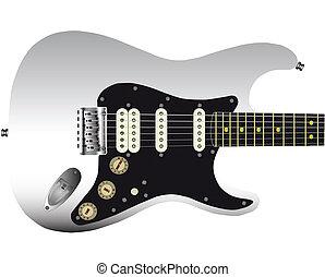 guitare, queue, dur