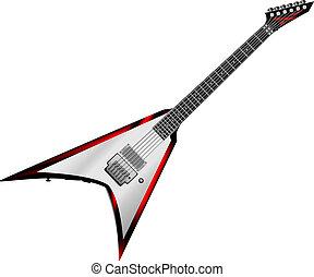guitare, rocher