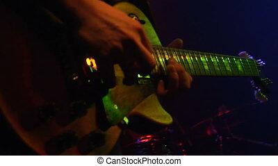 guitare, rocher, rouleau, n