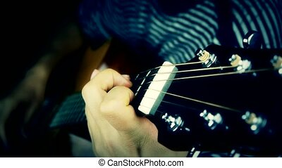 guitare, strum., jouer