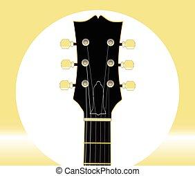 guitare, tuners, headstock