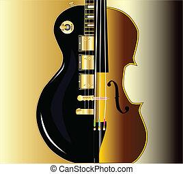 guitare, violon, morph