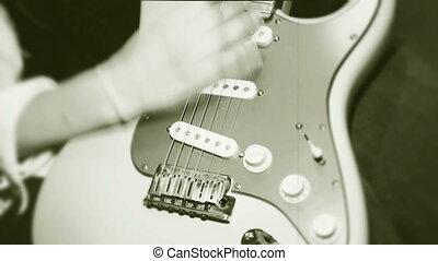 guitariste, profession, jouer, femme