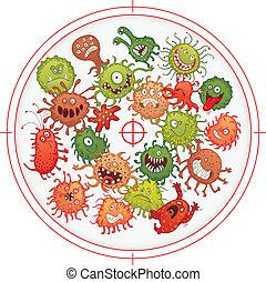gunpoint, bactérie, germes