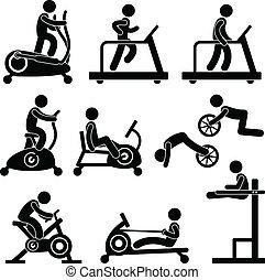 gymnase, gymnase, exercice, fitness