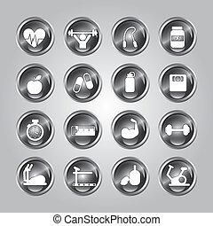 gymnase, icônes