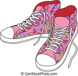 gymnase, shoes.