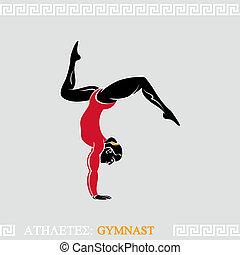gymnaste, athlète