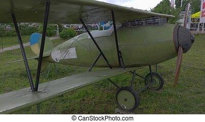 hélice, vieux, avion