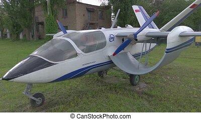 hélice, vieux, soviétique, avion