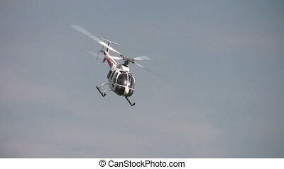 hélicoptère, entonnoir