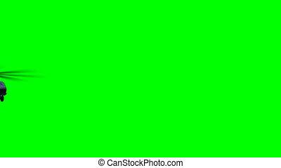 hélicoptère, vert, mouche