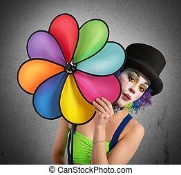 hélix, clown