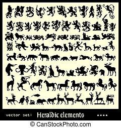héraldique, éléments