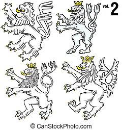 héraldique, 2, lions