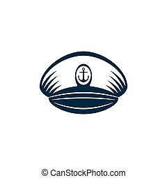 héraldique, vecteur, chapeau, capitaines, conception