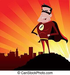 héros, -, super, mâle