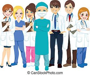 hôpital, équipe soignant