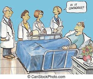 hôpital, patient
