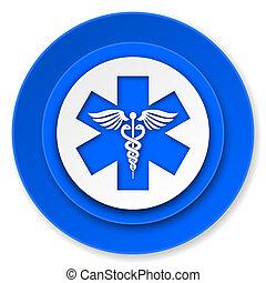 hôpital, signe, urgence, icône