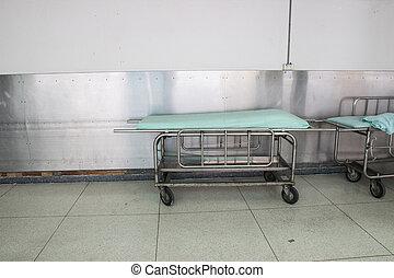 hôpital, vide, lit
