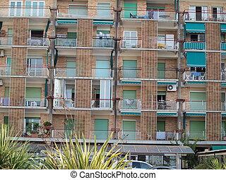 hôtel, maison, grado, côtier