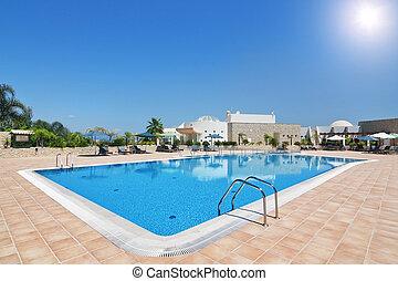 hôtel, portugal, family., de, agréable, nova., boa, algarve., vacances, quinta, piscine