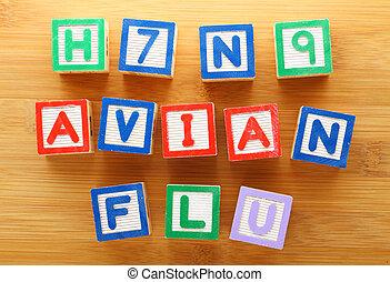 h7n9, avian, jouet, grippe, bloc