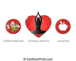 habiter sain, conseil, symbols.