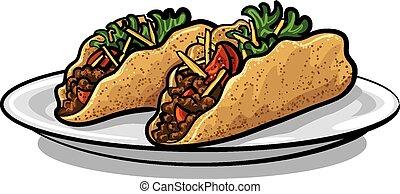 hacher, tacos
