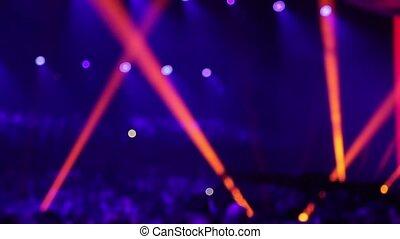 hall., applaudissement, rowd, concert