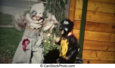 halloween, (8mm, excité, film), gosses