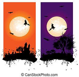 halloween, bannière
